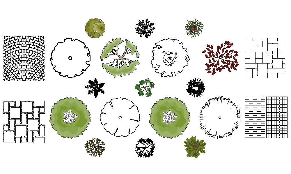 21 brave landscape garden design symbols for Garden design elements
